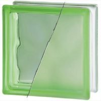 Verde Ondulato Sabbiato 1 Lato