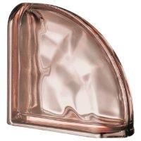 Terminale Curvo Metallizzato Rosa Ondulato